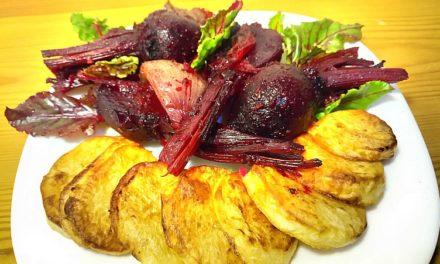 Παντζάρια με Πατάτες φούρνου